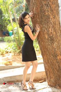 Actress Poojitha Pallavi Naidu Stills in Black Short Dress at Inkenti Nuvve Cheppu Movie Platinum Disc Function  0246.JPG