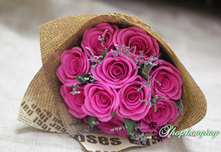 hoa hồng phớt bằng giấy