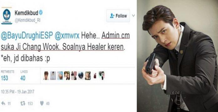 Kocak! Percakapan Seru Admin Twitter Kemdikbud Dengan Netizen Bahas Foto Ji Chang Wook