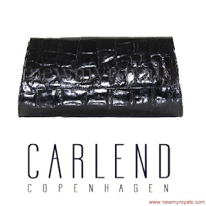 Queen Maxima carried CARLEND COPENHAGEN Aicha Crocodile clutch