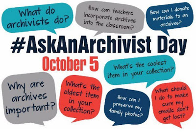 Ask an Archivist Day, 5 October