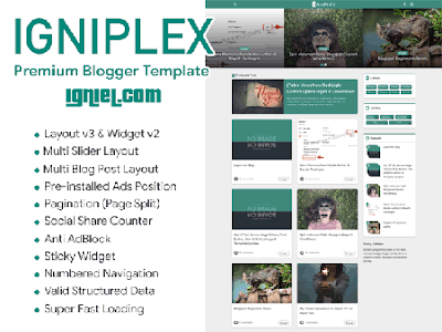 Template Blogger Premium Igniplex by Igniel
