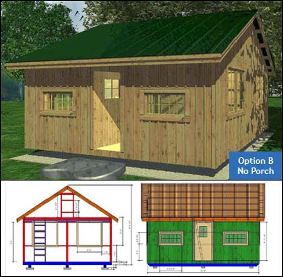 16x20 Cottage Plans For Seashore picture