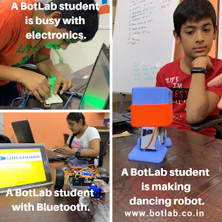 Students learning at BotLab