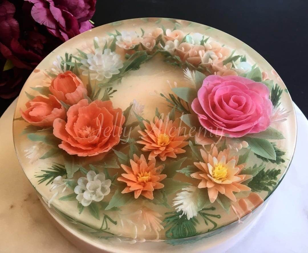 13-Pink-and-Peach-Floral-Arrangement-Siew-Heng-Boon-Flowers-in-Food-Art-3D-Jelly-Cakes-www-designstack-co