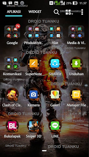 Theme Battlefield ZenUI For Asus Zenfone 5 Apk