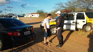 PRE realiza Operação Semana Santa na RN-288 que liga Carnaúba dos Dantas à Picuí