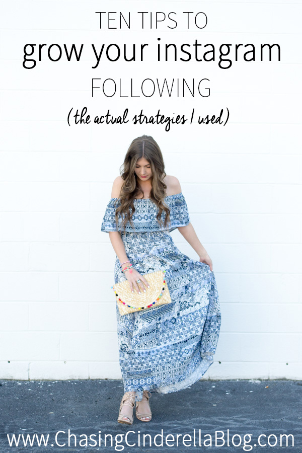 10 Tips To Grow Instagram Followers by Charleston blogger Kelsey of Chasing Cinderella