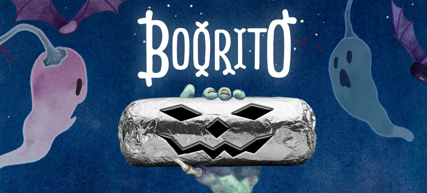 Chipotle's BOO-Rito Deal for $3 is Back This Halloween 2016