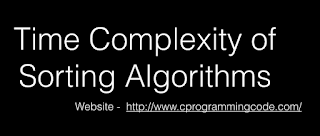 Time Complexity of Sorting Algorithms
