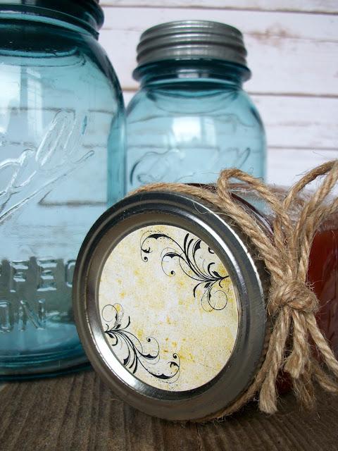 vintage canning jar labels