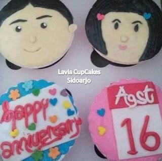 Cup Cake Sidoarjo permintaan Bentuk ulang tahun