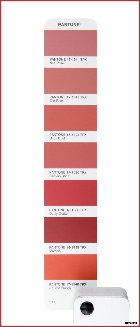 Pantone color of the year, Marsala color shades