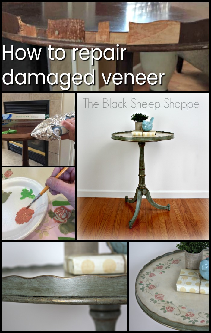 How to repair damaged veneer on wood furniture.