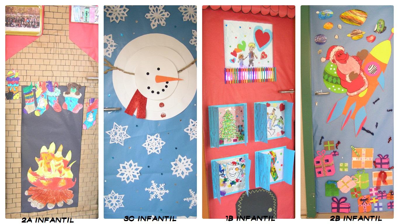 Ampa del ceip lucien briet concurso decoraci n de puertas - Ideas decoracion navidad colegio ...