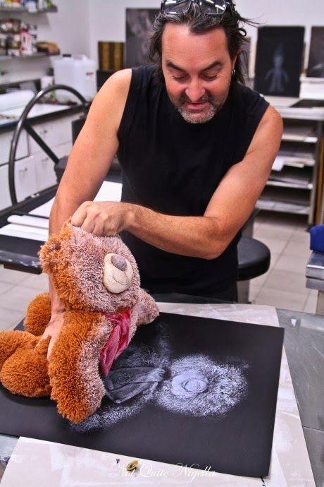 oyuncak ayı ile baskı yapımı