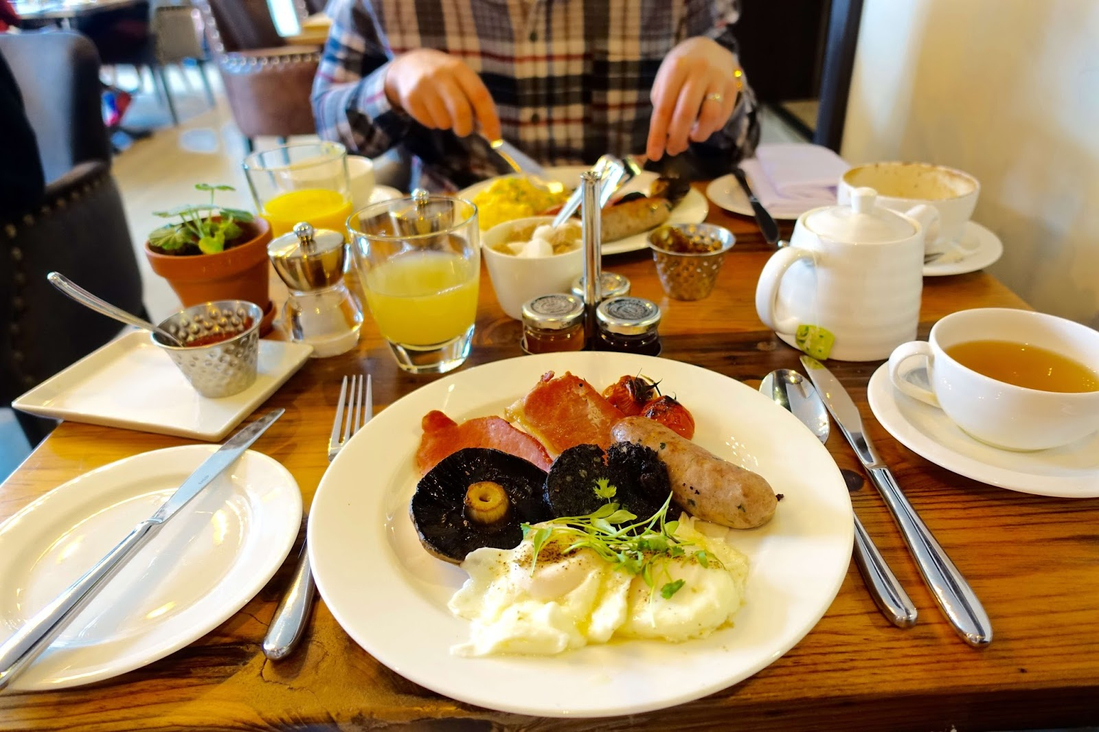 breakfast review at the white horse in dorking