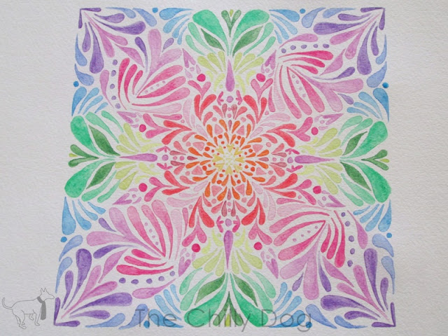 Extreme adult coloring ideas: meditate by creating a geometric painting with watercolor pencils