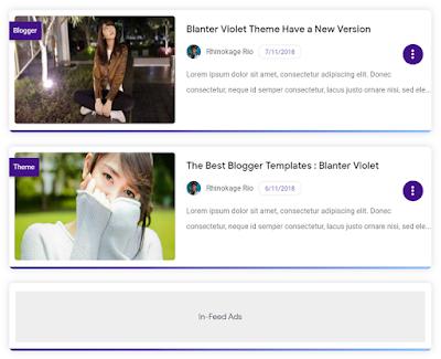 Tampilan Versi List Blanter Violet