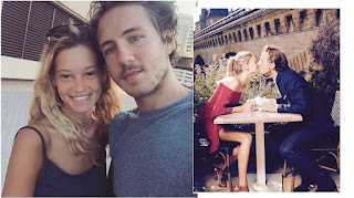 Lucas with his girlfriend Clemence on a date