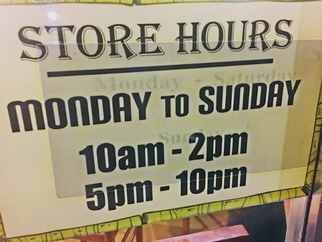 Taitong Steamers Foods Operating Hours