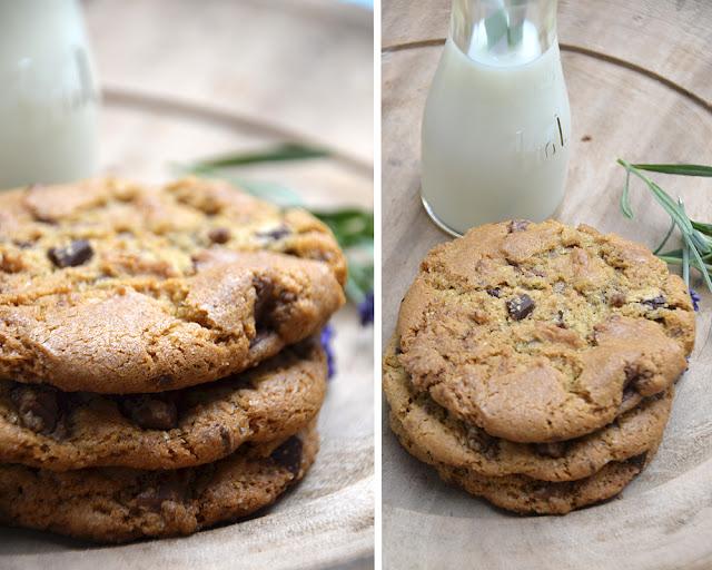 cookies med chokolade og nødder opskrift
