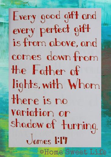 Scripture Writing, James 1:17