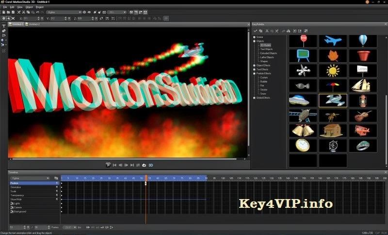 Corel MotionStudio 3D v1.0.0.252 Full Key,Phần mềm tạo tiêu đề và hiệu ứng 3D cho Video và phim