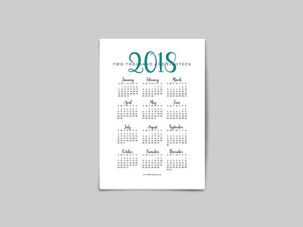 Free Printable 2018 Year at a Glance Calendar Oh Hey Hannah
