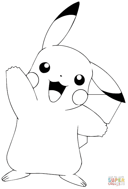 Click The Pokmon Go Pikachu Waving Coloring Pages To View Printable  Version Or Color It Online Patible With Ipad And Android Tablets