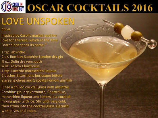 Oscar Cocktails 2016 Bonus Carol Love Unspoken