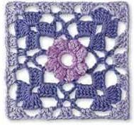Patrón 881 Granny a Crochet