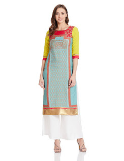 Blue W for Woman Kurti by FashionDiya