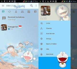 BBM MOD Doraemon Versi Terbaru v3.2.3.11 APK Transparan