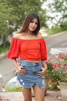 Rhea Chakraborty in Red Crop Top and Denim Shorts Spicy Pics ~  Exclusive 233.JPG