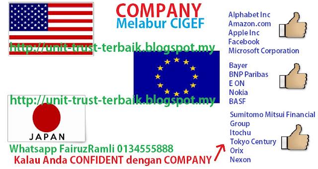 Syarikat yang dilaburkan oleh dana CIMB Islamic Global Equity Fund