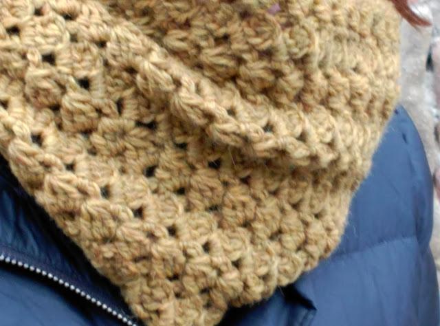Cuello a Ganchillo, crochet, invierno L de Lana