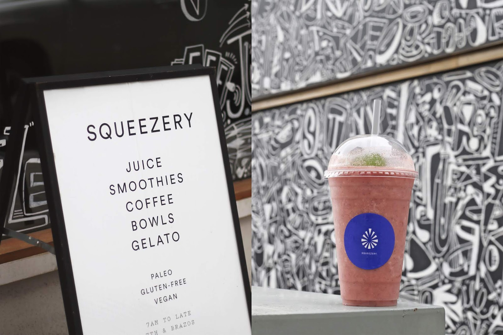 Austin Texas, Austin Smoothies, Best Acai Bowl in Austin, Best Smoothies in Austin, Squeezery Austin Texas Review