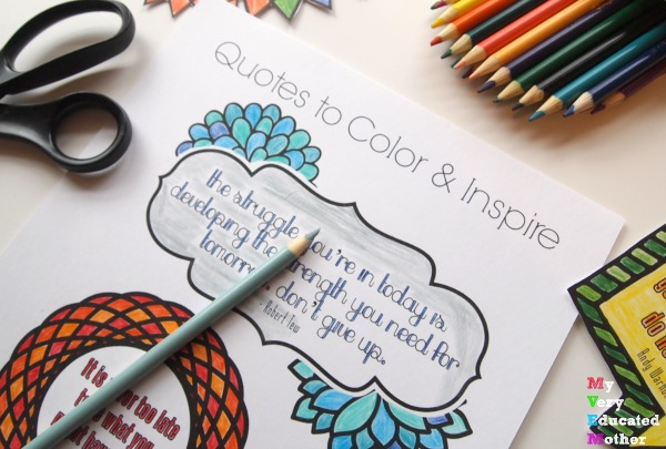 If you're going to color make sure it's something that inspires you!