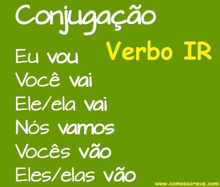 Conjugação do verbo ir