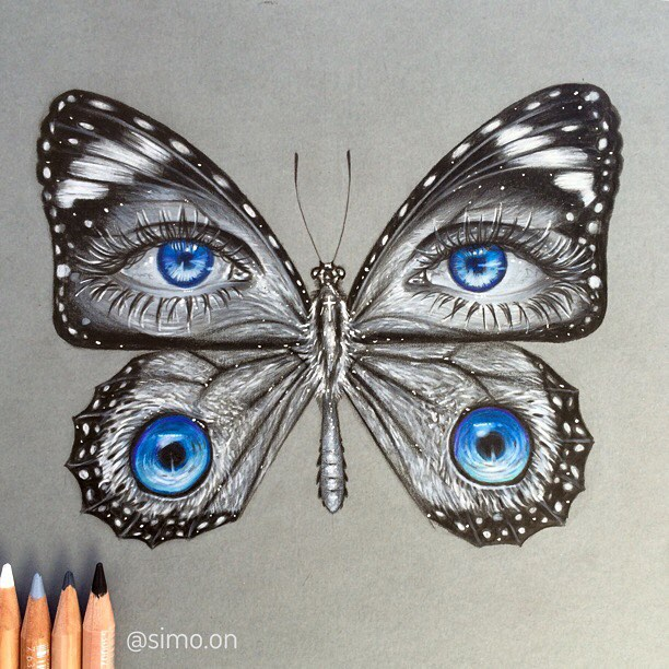 10-Butterfly-Eyes-Simon-Balzat-Colored-Pencils-make-Beautiful-Drawings-www-designstack-co