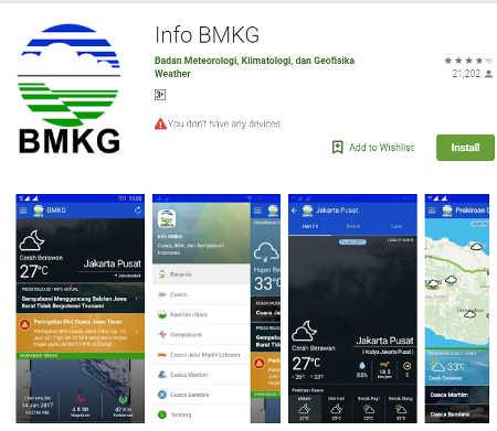 aplikasi melihat data gempa hari ini lewat map real time android