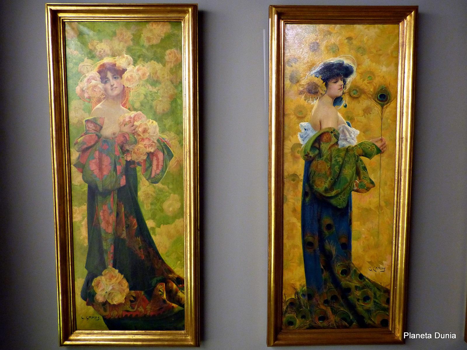 nicas de las artes decorativas que abarcan desde mobiliario hasta esculturas pasando por diferentes lienzos que muestran la sociedad modernista
