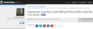 libertarians osama bin laden death cato institute