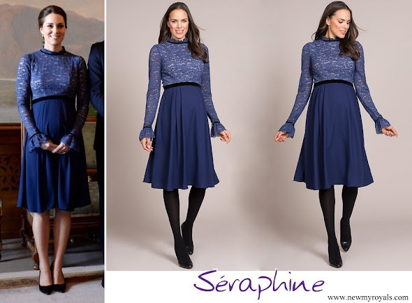 Kate Middleton wore Seraphine Marlene Maternity Cocktail Dress
