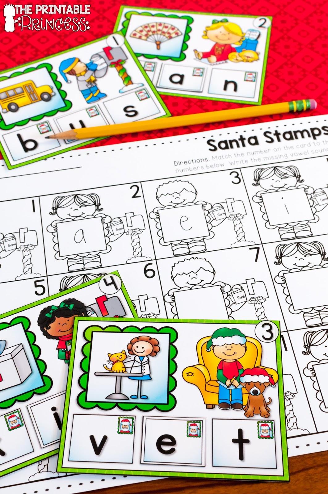 the printable princess  christmas literacy and math