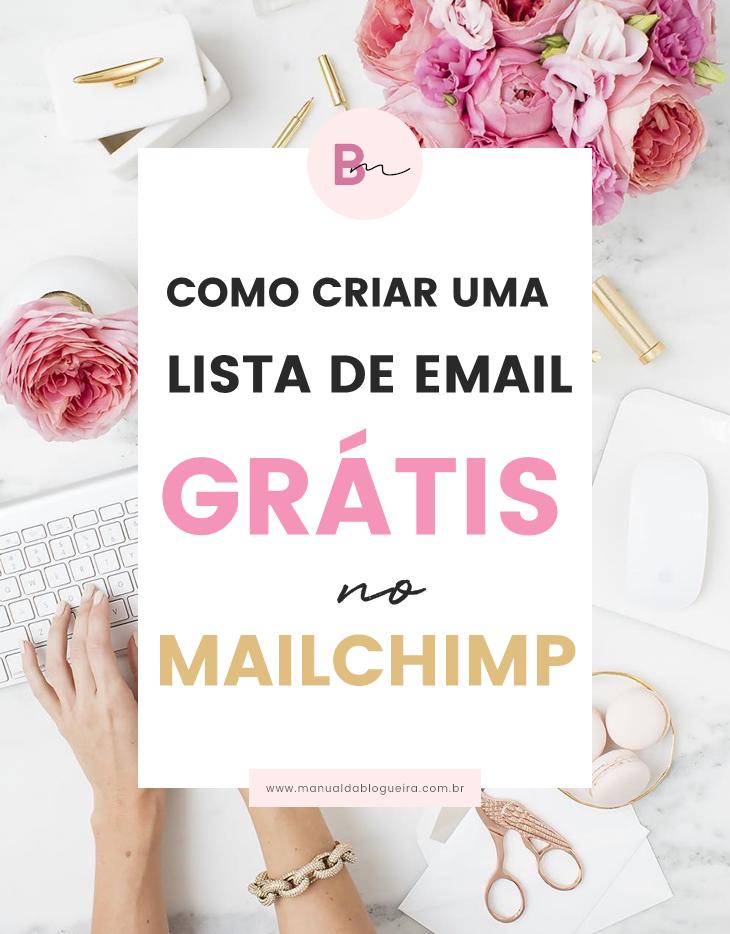 criar uma lista de e-mail