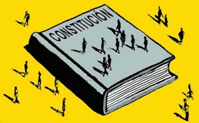 Una constitución esta hecha con personas.