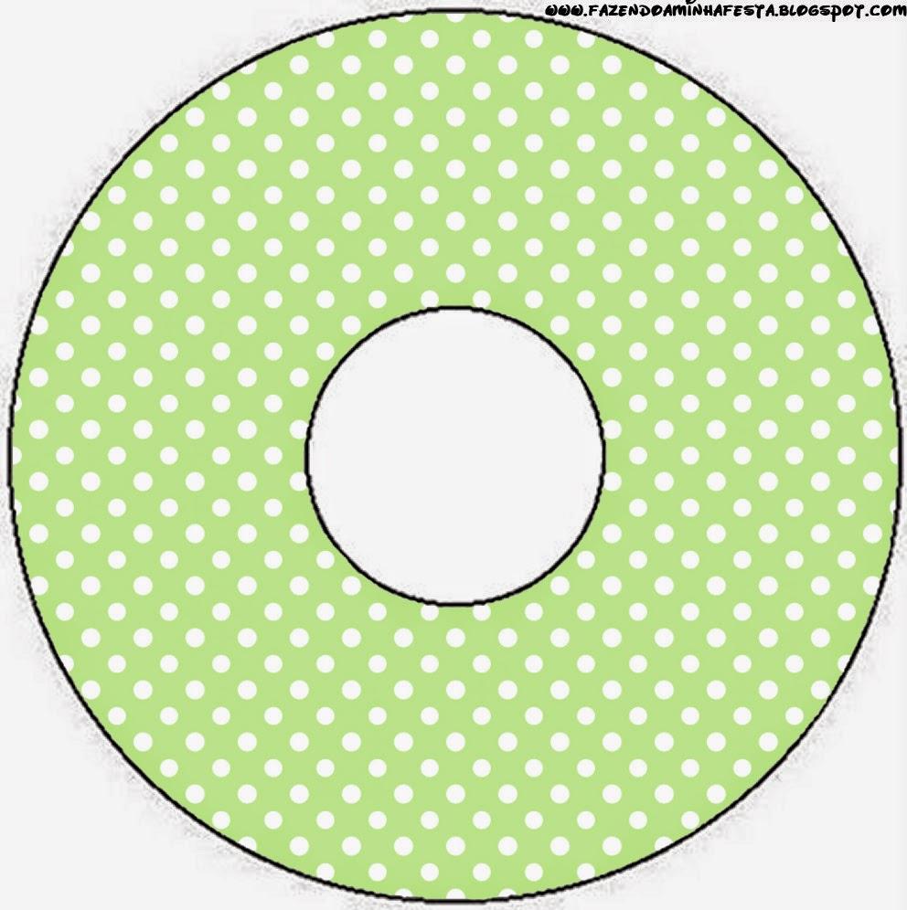 Etiquetas de Verde y Celeste para CD's.