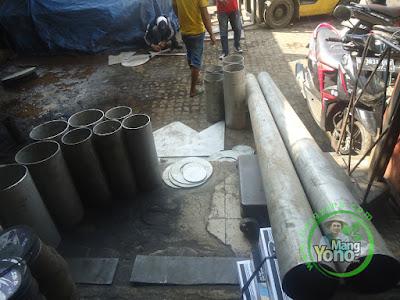 Belanja Plat dan Pipa Stainless Steel untuk proyek Biogas Kalimantan Selatan.